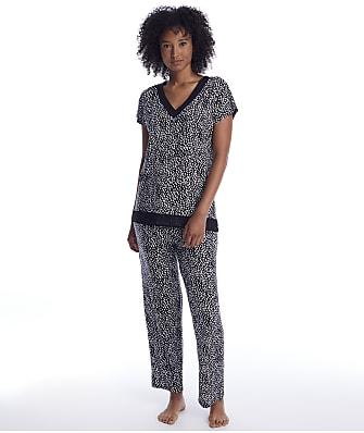 Donna Karan Abstract Modal Pajam Set