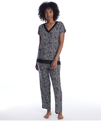 Donna Karan Sleepwear Abstract Modal Pajama Set