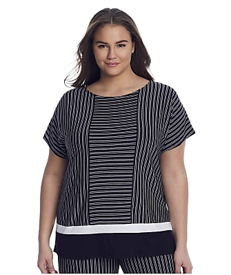 Donna Karan Sleepwear Plus Size Get In Line Modal Sleep Shirt