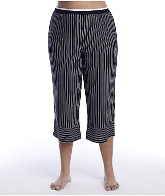 Donna Karan Sleepwear Plus Size Get In Line Modal Capri Pajama Pants