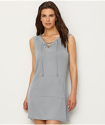 Dotti Sun Seeker Lace-Up Hooded Cover-Up
