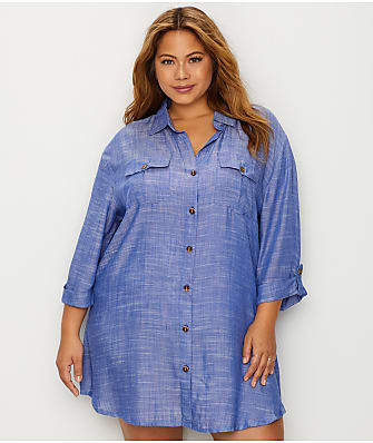 Dotti Plus Size Cabana Life Woven Cover-Up