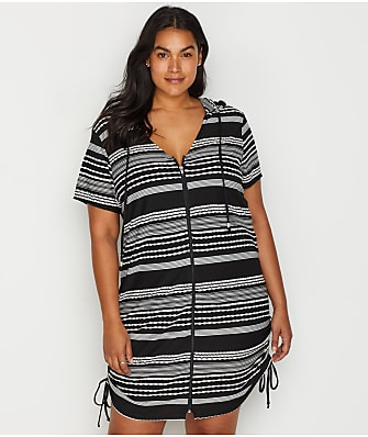 Dotti Plus Size Ibiza Hooded Cover-Up