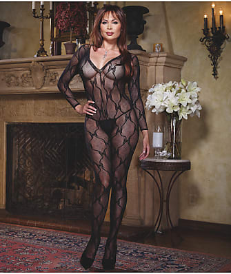 Dreamgirl Plus Size Lace Bodystocking