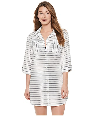 Dotti Radiance Stripe Shirt Dress Cover-Up