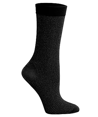 DKNY Lurex Rib Crew Socks 2-Pack