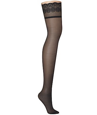 DKNY Sheer Lace Thigh Highs