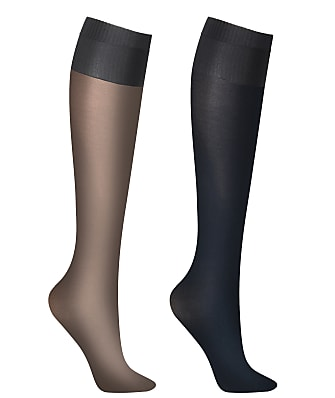 DKNY Opaque Knee Highs 2-Pack