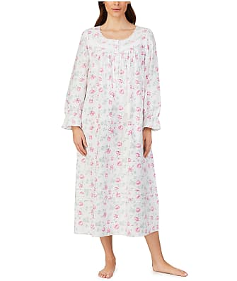 Eileen West Pink Roses Flannel Ballet Nightgown