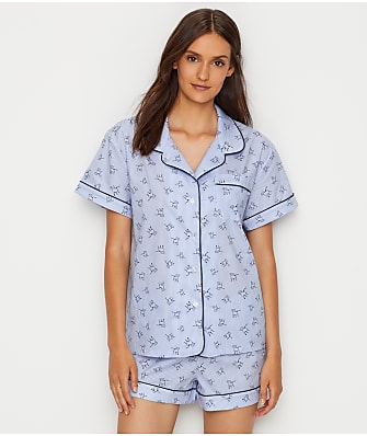 ED Ellen DeGeneres Woven Dog Stripe Pajama Set
