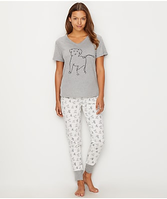 ED Ellen DeGeneres Share The Love Knit Pajama Set