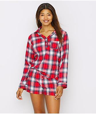 ED Ellen DeGeneres Plaid Flannel Pajama Set