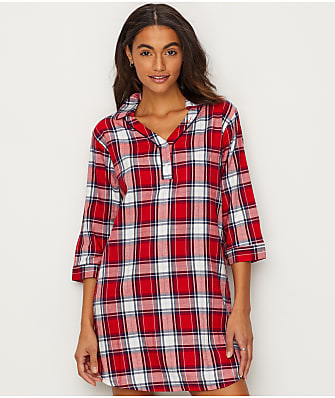 ED Ellen DeGeneres Flannel Sleep Shirt