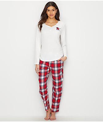 ED Ellen DeGeneres Dog Flannel Pajama Set