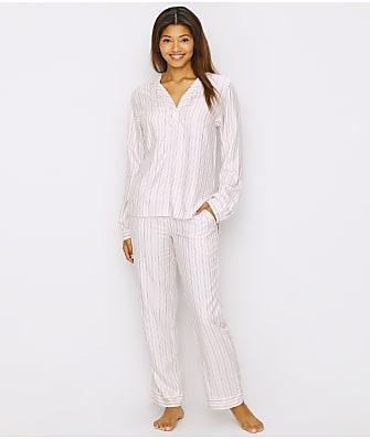 ED Ellen DeGeneres Striped Woven Pajama Set