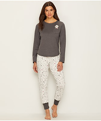 ED Ellen DeGeneres Love + Happiness Knit Pajama Set
