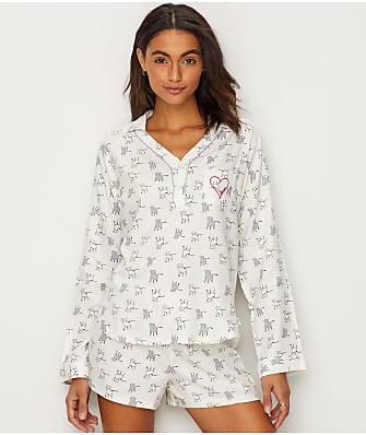 ED Ellen DeGeneres Flannel Dog Pajama Set