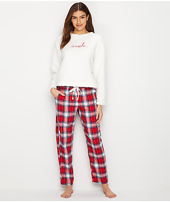 ED Ellen DeGeneres Fleece & Flannel Pajama Set