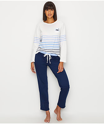 ED Ellen DeGeneres Tonal Stripes Knit Pajama Set