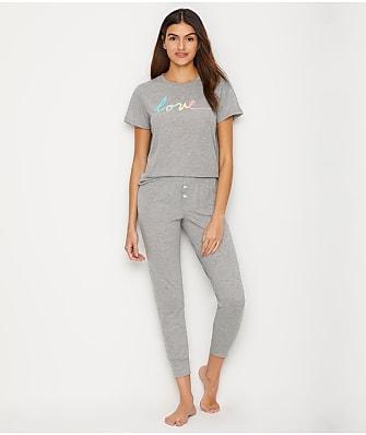 ED Ellen DeGeneres Love Knit Jogger Pajama Set