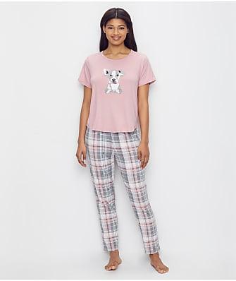 ED Ellen DeGeneres Plaid Love Knit Pajama Set