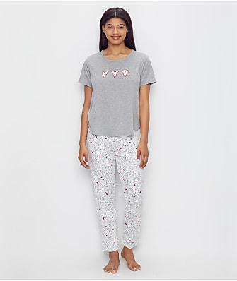 ED Ellen DeGeneres Love Knit Pajama Set