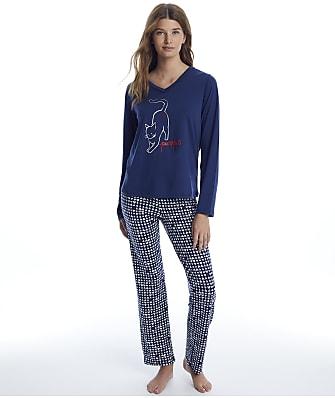 ED Ellen DeGeneres Say What Knit Pajama Set