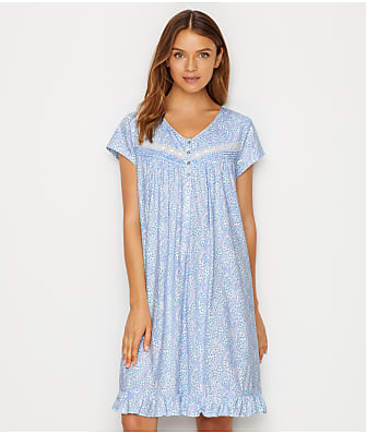 Eileen West Jersey Knit Paisley Nightgown
