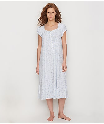 Eileen West Peri Floral Knit Nightgown