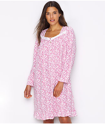 Eileen West Floral Jersey Knit Nightgown