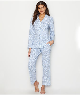 Eileen West Notch Collar Knit Pajama Set