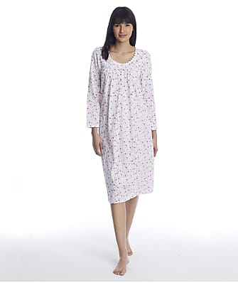 Eileen West Cotton Knit Long Nightgown