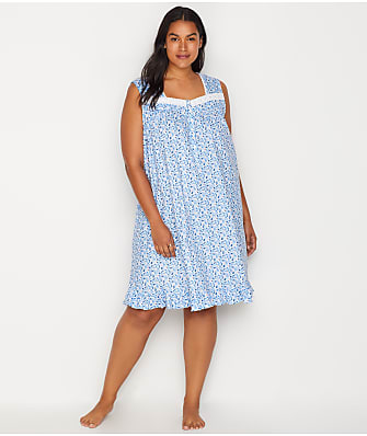 Eileen West Plus Size Floral Knit Chemise