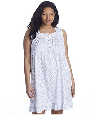 Eileen West Plus Size Floral Knit Short Gown