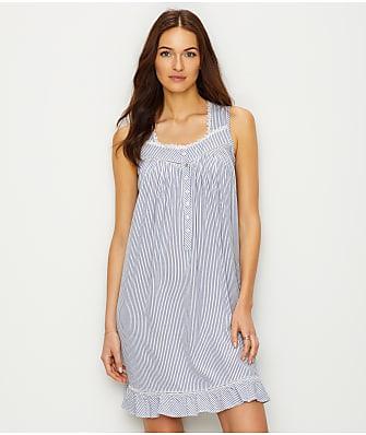 Eileen West Knit Striped Night Gown