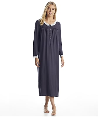 Eileen West Charcoal Sweater Knit Ballet Nightgown