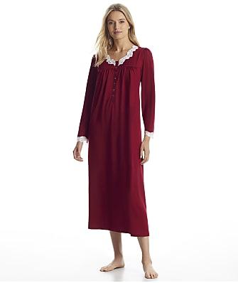 Eileen West Wine Sweater Knit Ballet Nightgown