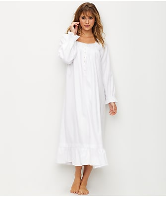 Eileen West Embroidered Flannel Ballet Night Gown
