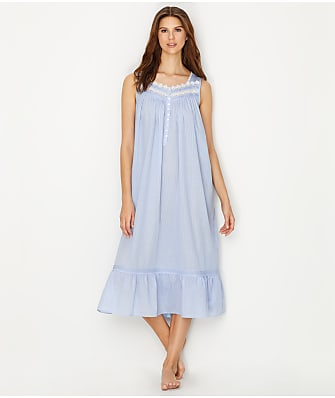 Eileen West Lawn Ballet Woven Stripe Night Gown