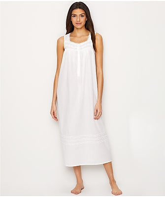 Eileen West Clip Dot Lawn Ballet Woven Night Gown