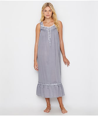 Eileen West Chambray Ballet Woven Night Gown