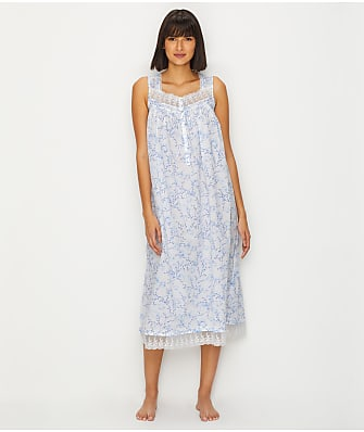 Eileen West Lawn Ballet Floral Woven Nightgown