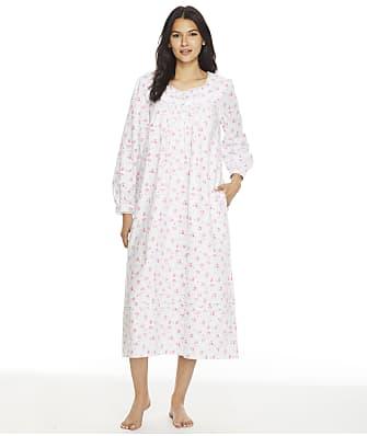 Eileen West Pink Floral Flannel Ballet Nightgown