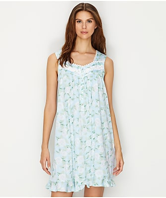 Eileen West Floral Print Knit Night Gown
