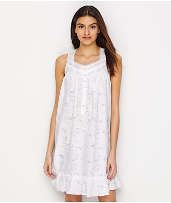 Eileen West Floral Burnout Woven Chemise