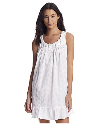 Eileen West White Flowers Woven Chemise