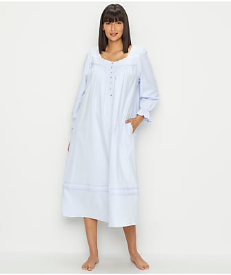 Eileen West Filigree Flannel Embroidered Nightgown