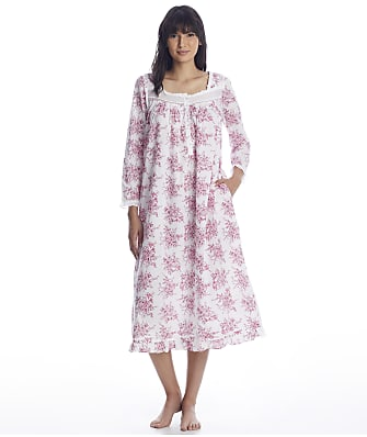 Eileen West Berry Toile Ballet Woven Nightgown