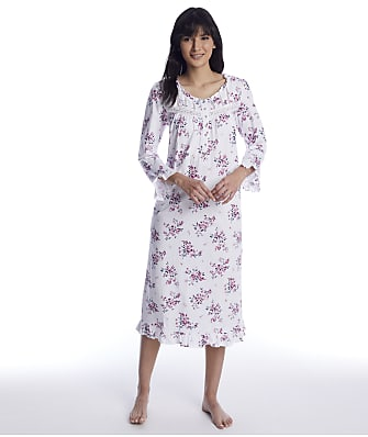 Eileen West Plumberry Floral Waltz Knit Nigthgown