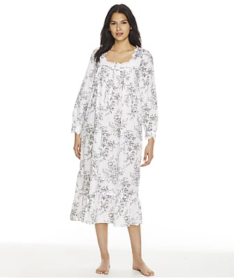 Eileen West Plus Size Floral Ballet Woven Nightgown